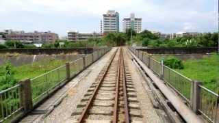 【後部展望】台湾新営糖廠のトロッコ列車 Taiwan Sugar Railways