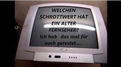 Welchen Schrottwert hat ein alter Fernseher? Fernseher zerlegen und Buntmetall recyclen