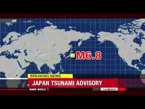 Fukushima Tsunami Warning after 6.8 earthquake 10/25/13