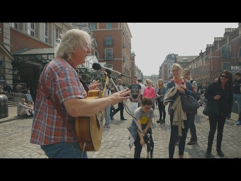 Streets of London  - Terry St Clair busking in Covent Garden