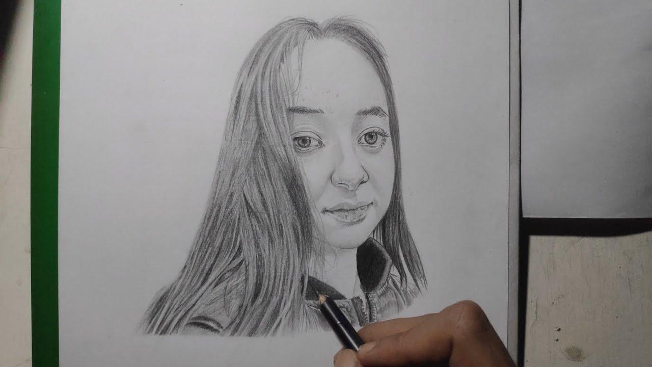 Menggambar Wajah Wanita Menggunakan Pensil Dengan Mudah