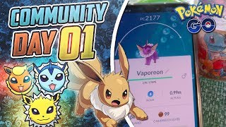 Mi 1er COMMUNITY DAY de EEVEE..a por las EVOLUCIONES de 1ª Gen SHINY! |Cartagena (Murcia)|Pokémon GO