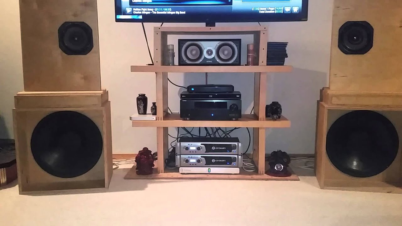"Subwoofer Box Design >> DIY speakers, AN Super 8 over 18"" H-Frames. Mingus Big Band - YouTube"