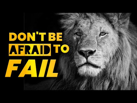 Dont be Afraid to Fail | Powerful Lion Attitude Quotes About Life