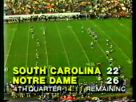 1984 South Carolina Vs Notre Dame 2nd Half