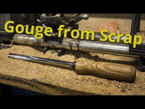 Making a Lathe Gouge from a Shock Absorber