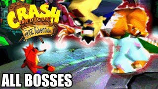 Crash Bandicoot The Huge Adventure / XS  All Bosses