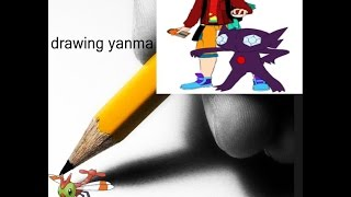 me drawing yanma in pokemon/contest
