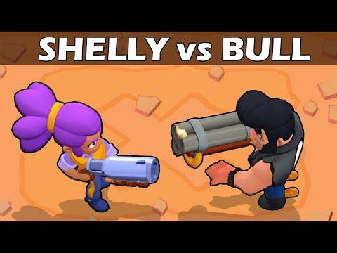 SHELLY Vs BULL   1 VS 1   19 Pruebas