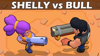 SHELLY vs BULL | 1 VS 1 | 19 Test