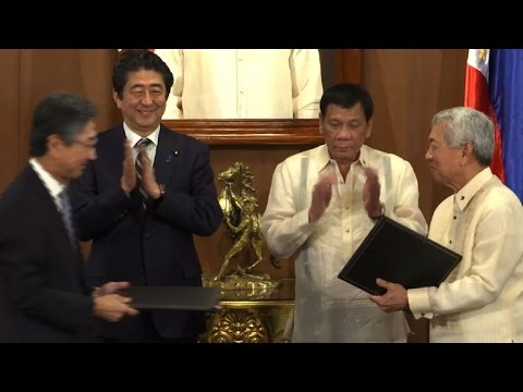 Japan PM offers Philippines drug war support