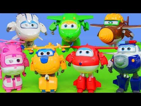Super Wings Unboxing: Transformers Jett, Donnie & Dizzy Spielzeugautos für Kinder | Mehr Robot Toys