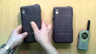 Sharp CTB.1A walkie talkie´s review by EA1GAR