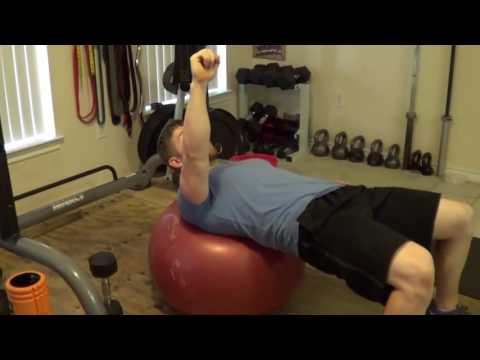 How to Perform One Arm DB Swiss Ball Press