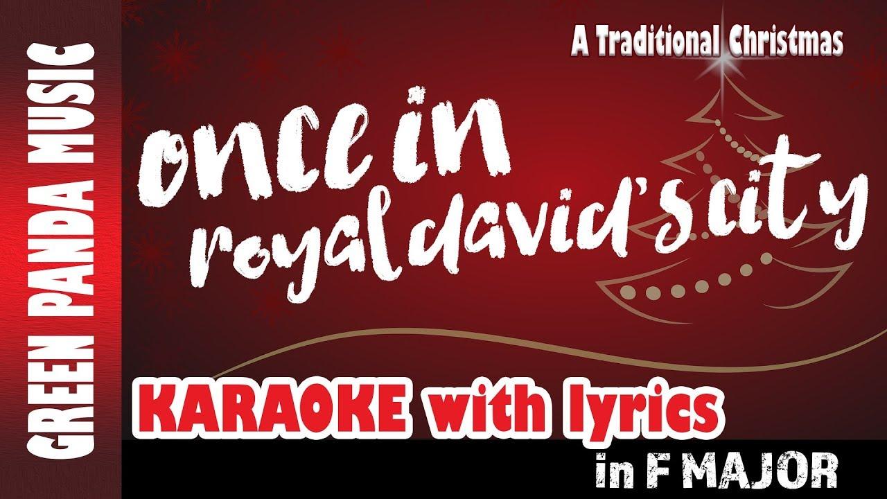 Once in Royal David's City - Christmas Carols Karaoke with Lyrics - A Traditional Christmas ...