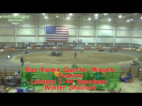 Blue Rookie Quarter Midget Main  - I-44 Speedway Winter Shootout 1-19-2018