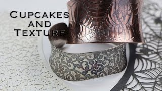 How to Texture Metal with Cupcake Wrappers