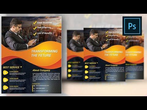Business Flyer Adobe Photoshop Tutorial