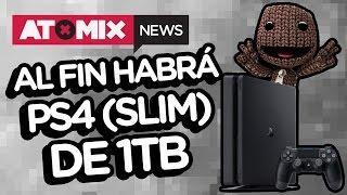 Al fin habrá PS4 (Slim) de 1TB – #AtomixNews [18/04/17]