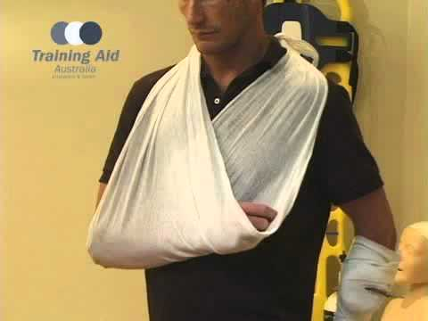 First Aid Tutorial: How To Correctly Sling An Arm | Training Aid Australia Sydney