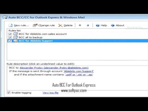 Auto BCC For Outlook Express Windows Download
