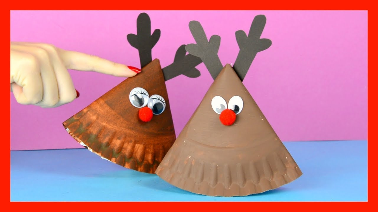 Rocking Paper Plate Reindeer Christmas Craft for Kids  sc 1 st  YouTube & Rocking Paper Plate Reindeer Christmas Craft for Kids - YouTube