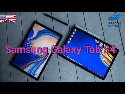 Samsung Galaxy Tab S4 Hands On first look english 4k