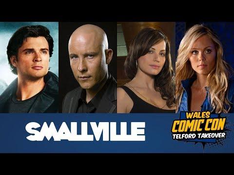 Smallville Panel Tom Welling, Michael Rosenbaum, Erica Durance, Laura Vandervoort - Wales Comic Con