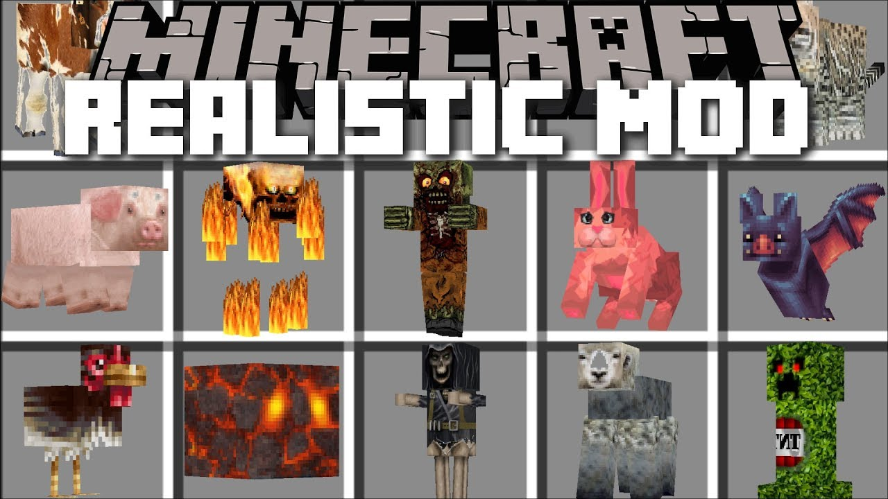 Minecraft REALISTIC MOD / SPAWN REALISTIC MONSTERS IN REAL LIFE