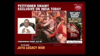 Petitioner Subramanian Swamy Speaks Exclusively To India Today On Ayodhya Dispute