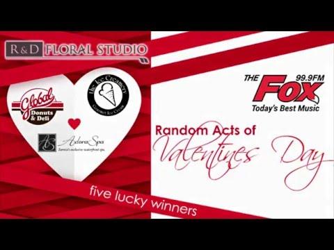 99.9 The Fox Random Acts of Valentines 2016 Sarnia