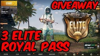 🔴PUBG MOBILE - 3 ROYAL PASS ⭐GIVEAWAY⭐ #1  🔴