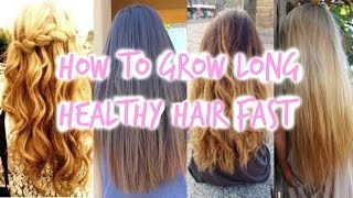 How To Grow LONG Healthy Hair Fast! Thumbnail