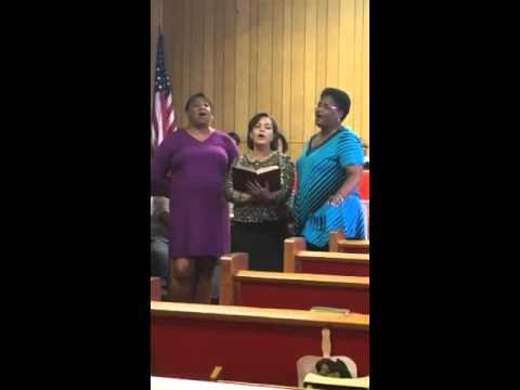 Mom, Myra and Valerie singing at church part 2