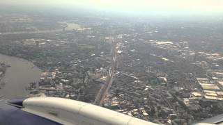 British Airways Embraer E190 From Glasgow into London City Airport on Monday 9th June 2014