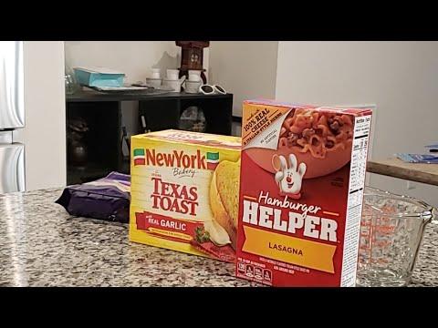 Cooking Hamburger Helper Lasagna! - YouTube