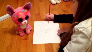 How to draw Cancun (dog) beanie boo step by step