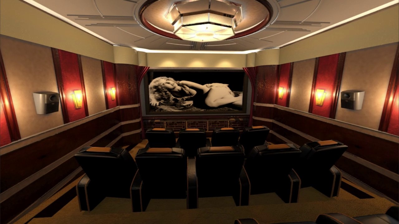 Art Deco Cinema Room Technical Elements Designed Using Tcd