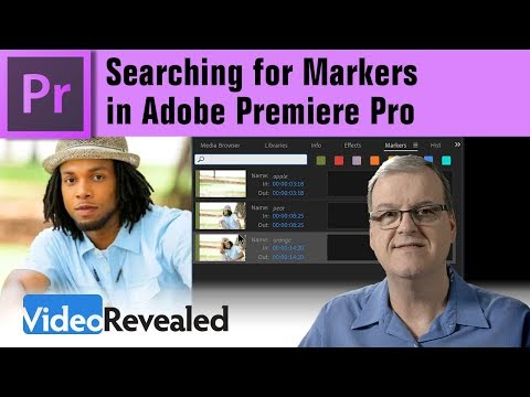 Searching for Markers in Adobe Premiere Pro
