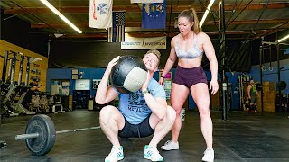 BODYBUILDING MEETS CROSSFIT! I let her pick the workout...