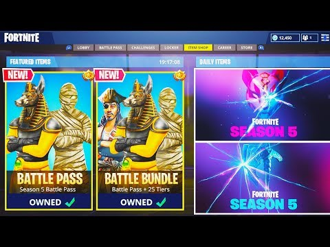 NEW SEASON 5 MAX Battle Pass UNLOCKING For Viewers ...