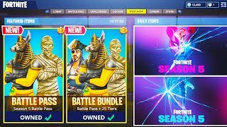 NEW SEASON 5 MAX Battle Pass UNLOCKING For Viewers! (Fortnite Season 5 Battle Pass Skins)