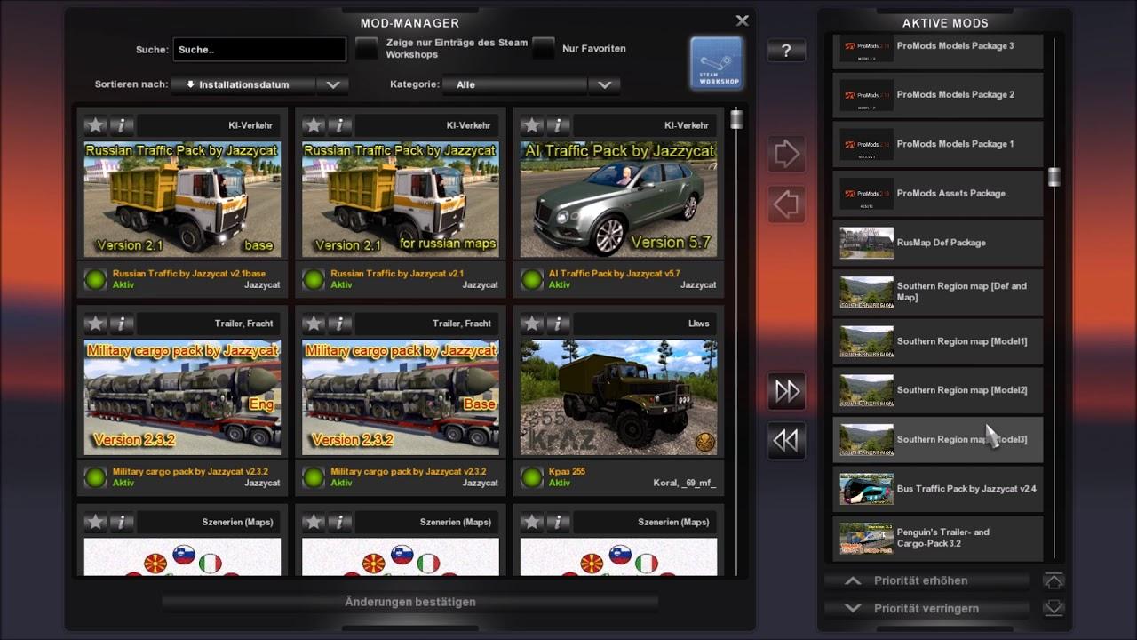 Euro Truck Simulator 2 1 28 1 3s Promods Und Andere Mods