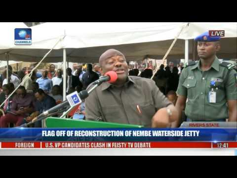 Gov Wike Flags Off Reconstruction Of Nembe Waterside Jetty Project Pt 4