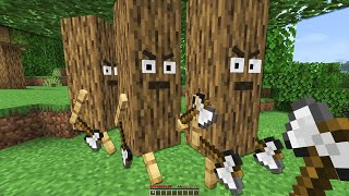 Minecraft but TREES fight back...