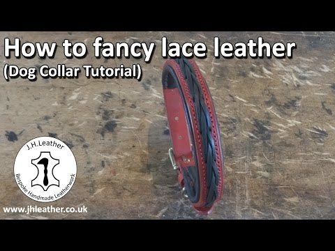 How To Lace Leather - Make Your Own Fancy Laced, Dog Collar (tutorial)
