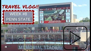 INDIANA HOOSIER FOOTBALL TRAVEL VLOG #8--PENN STATE