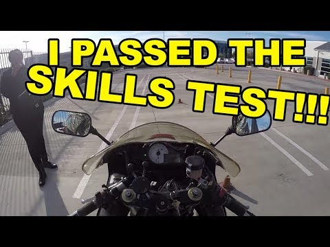 How to Pass the CALIFORNIA DMV MOTORCYCLE SKILLS TEST on a 600cc