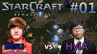 Bisu (P) vs HyiA (T) | StarCraft: Remastered - Replay-Cast #01 [Deutsch]