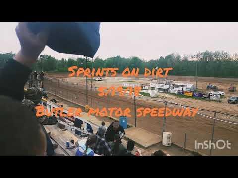 Sprints on dirt (sod) Butler motor speedway